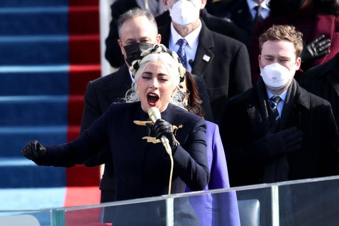 Lady Gaga sings the National Anthem at President Joe Biden's inauguration