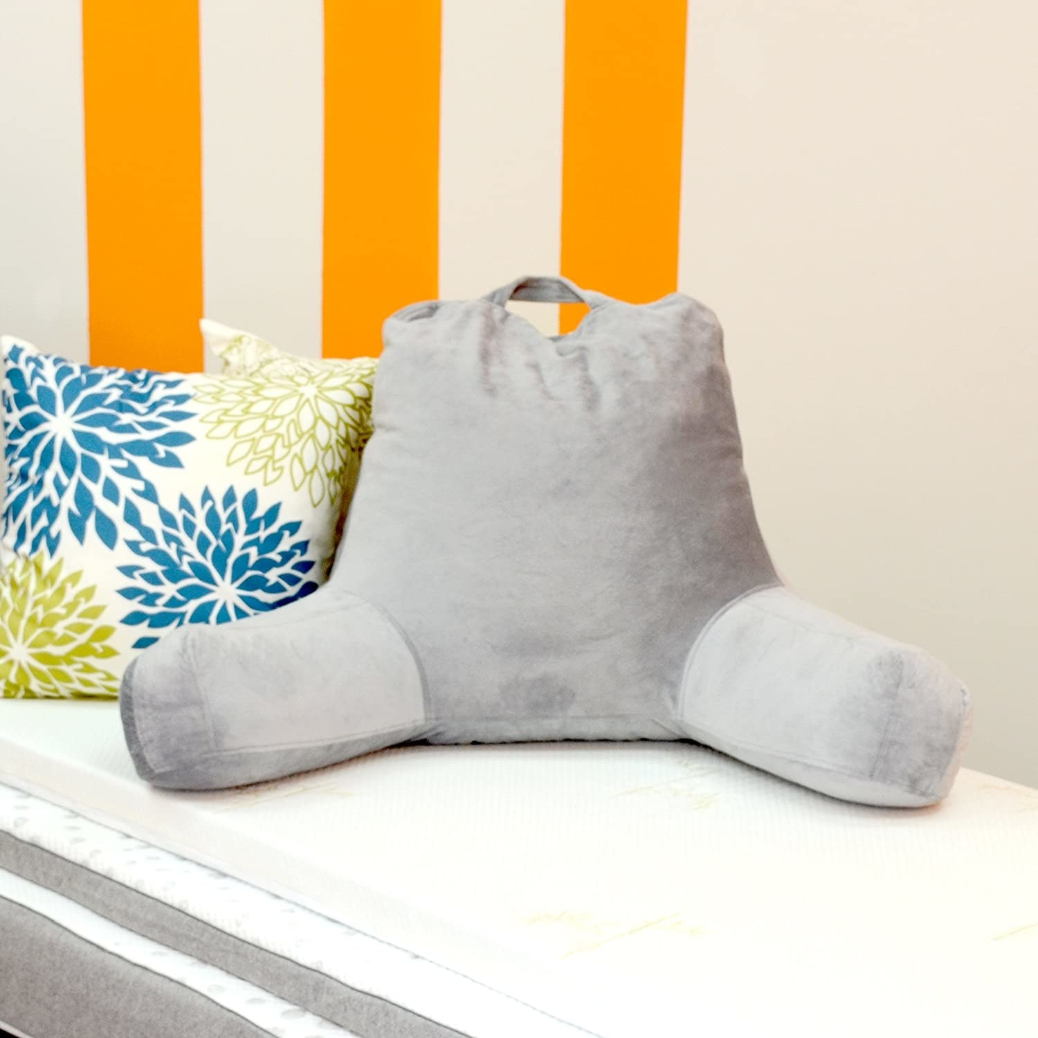 the pillow on a bench