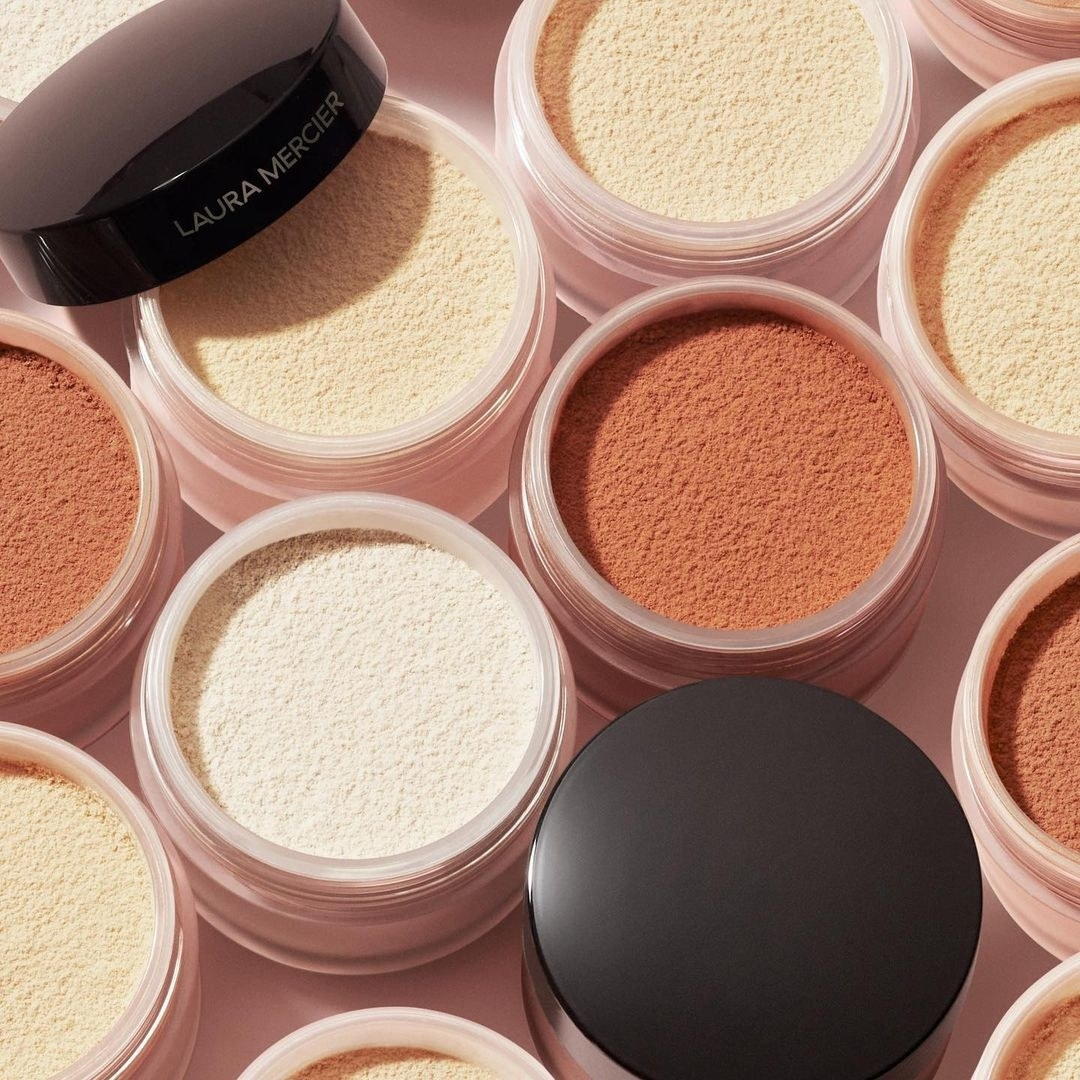 Tons of containers of setting powder in a group