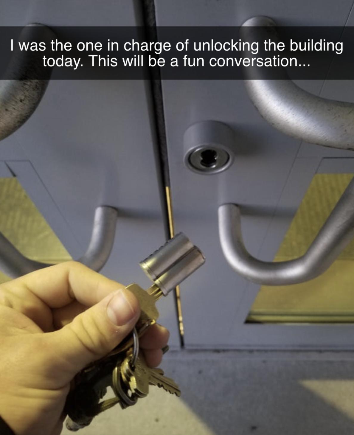person who broke off a lock