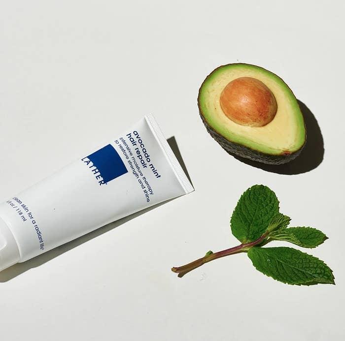the tube of hair treatment