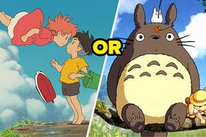 """Screencaps from Ponyo and My Neighbor Totoro with """"or"""" in between"""