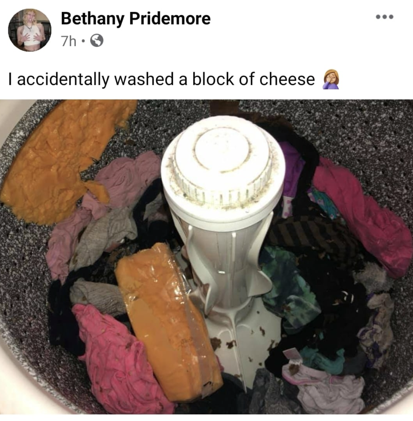 person who washed a block of cheese