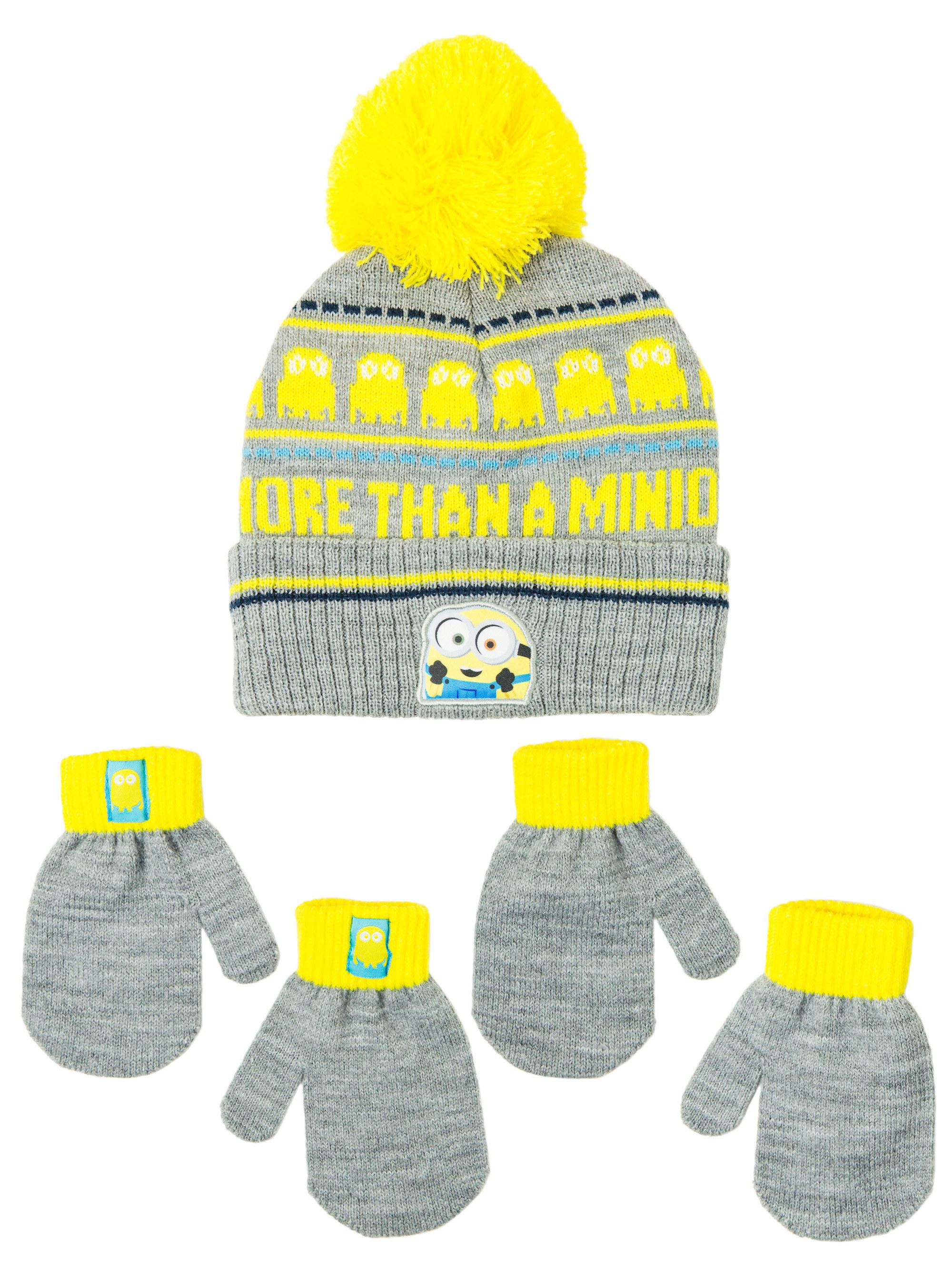 minion hat and mitten set
