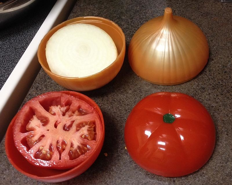 Reviewer onion and tomato in vegetable savers