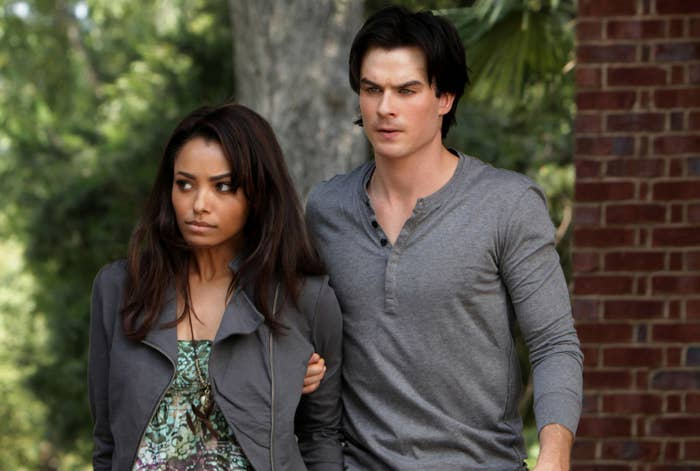 """Kat Graham and Ian Somerhalder as Bonnie and Damon on """"The Vampire Diaries"""""""