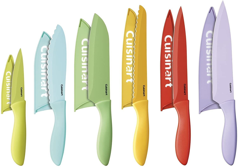 colorful knife set