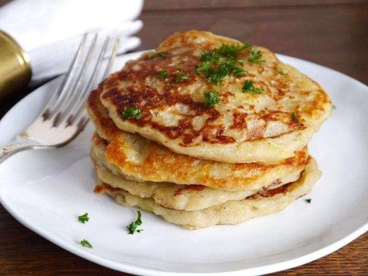 A plate of potato pancakes
