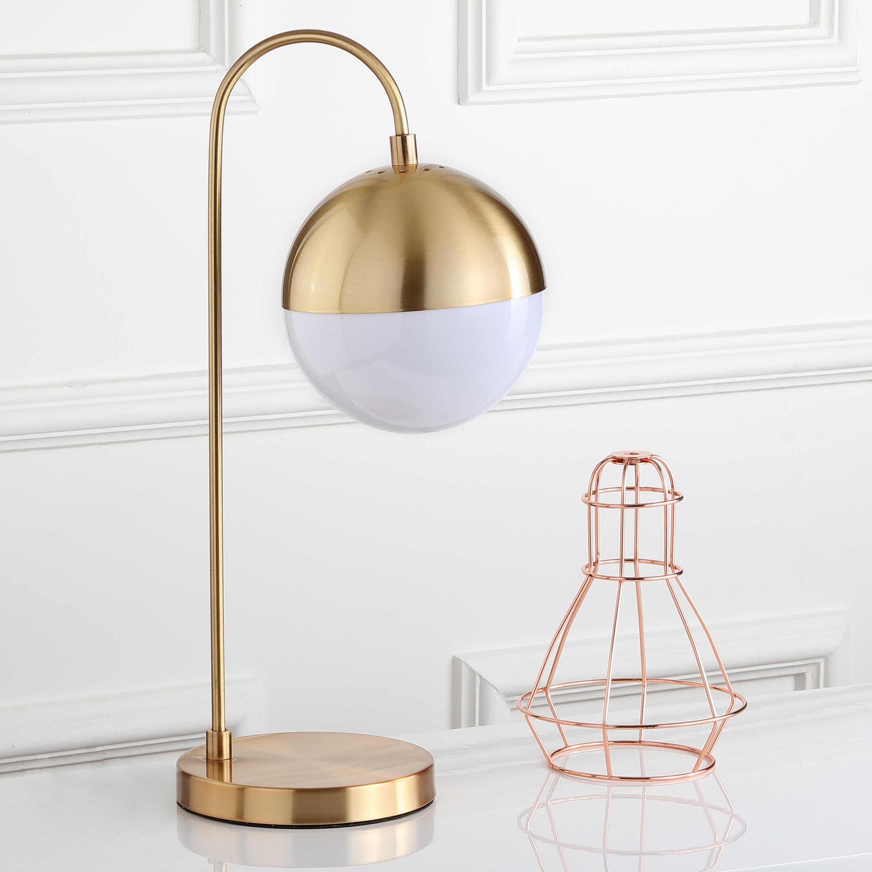 golden circular table lamp