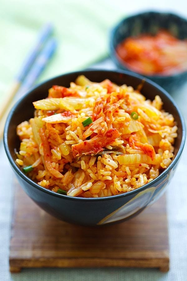 A bowl of kimchi fried rice