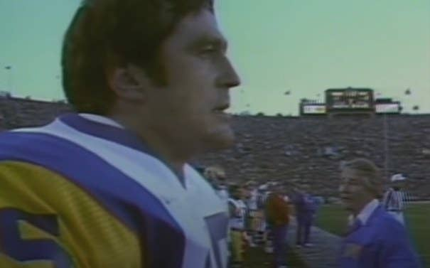 Jack Youngblood on the sidelines.
