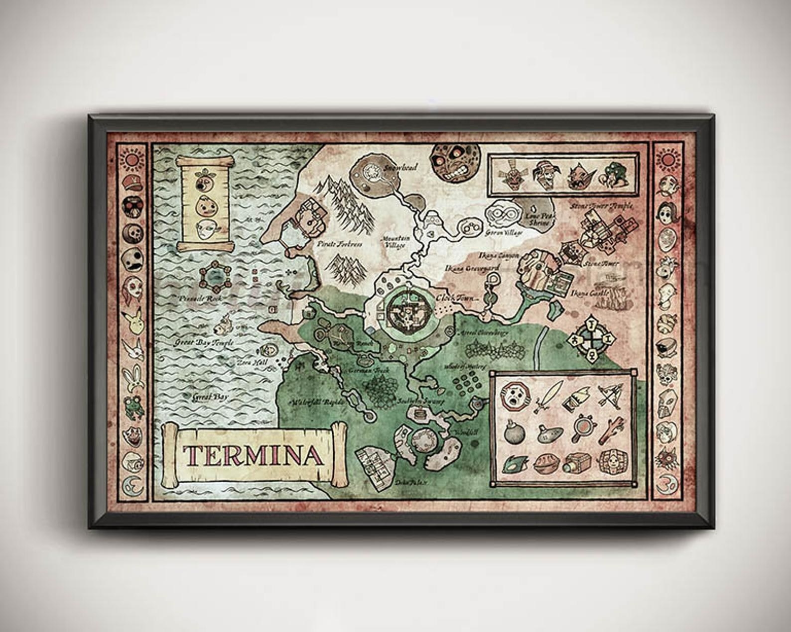 the map in a frame