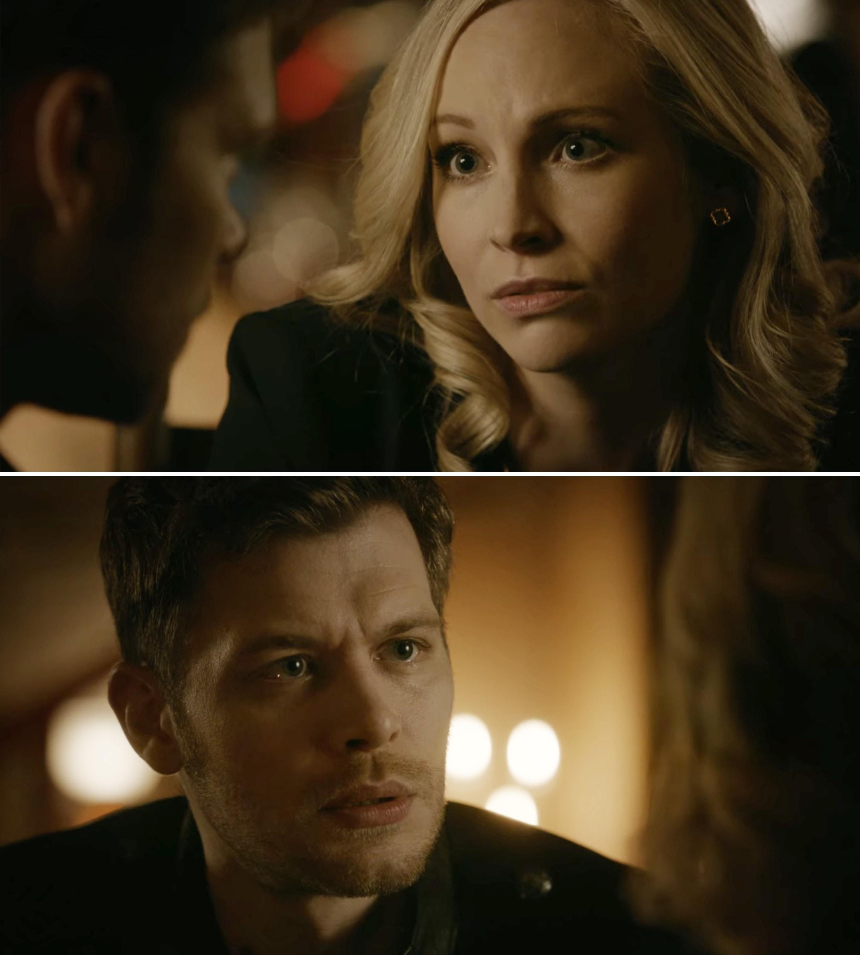 "Caroline and Klaus talking during ""The Originals"" series finale"