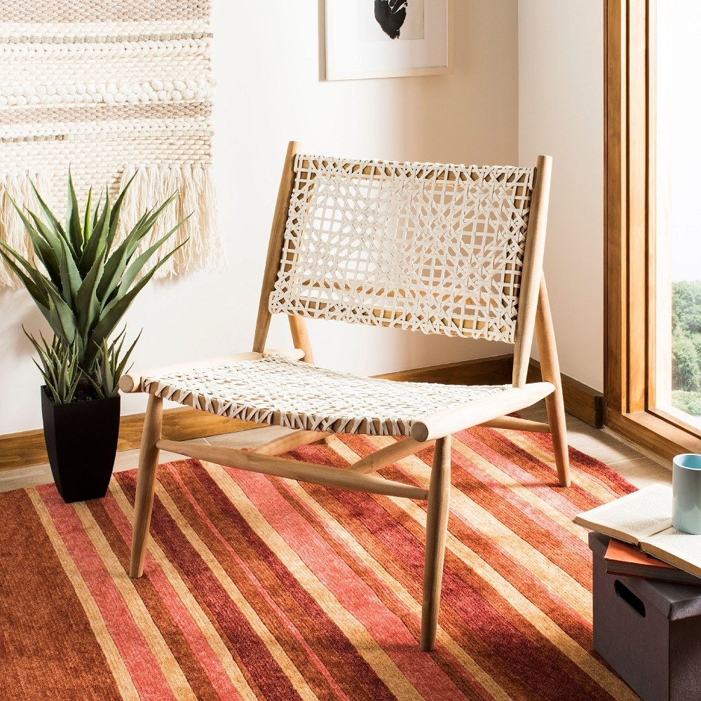 The chair placed in a boho-themed room