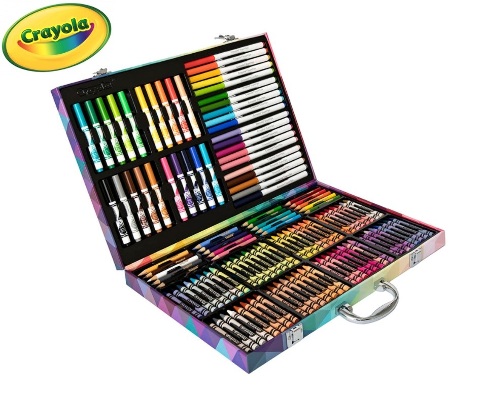 A Crayola Art Set featuring markers, pencils and crayons