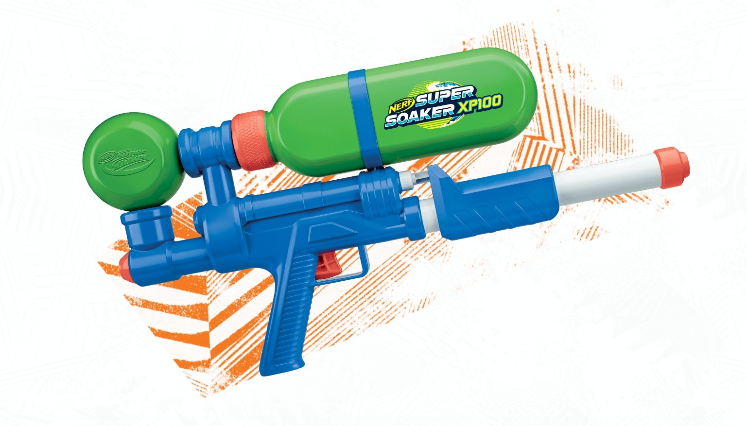 A super soaker XP1000 with a water storage section on top and a gun below