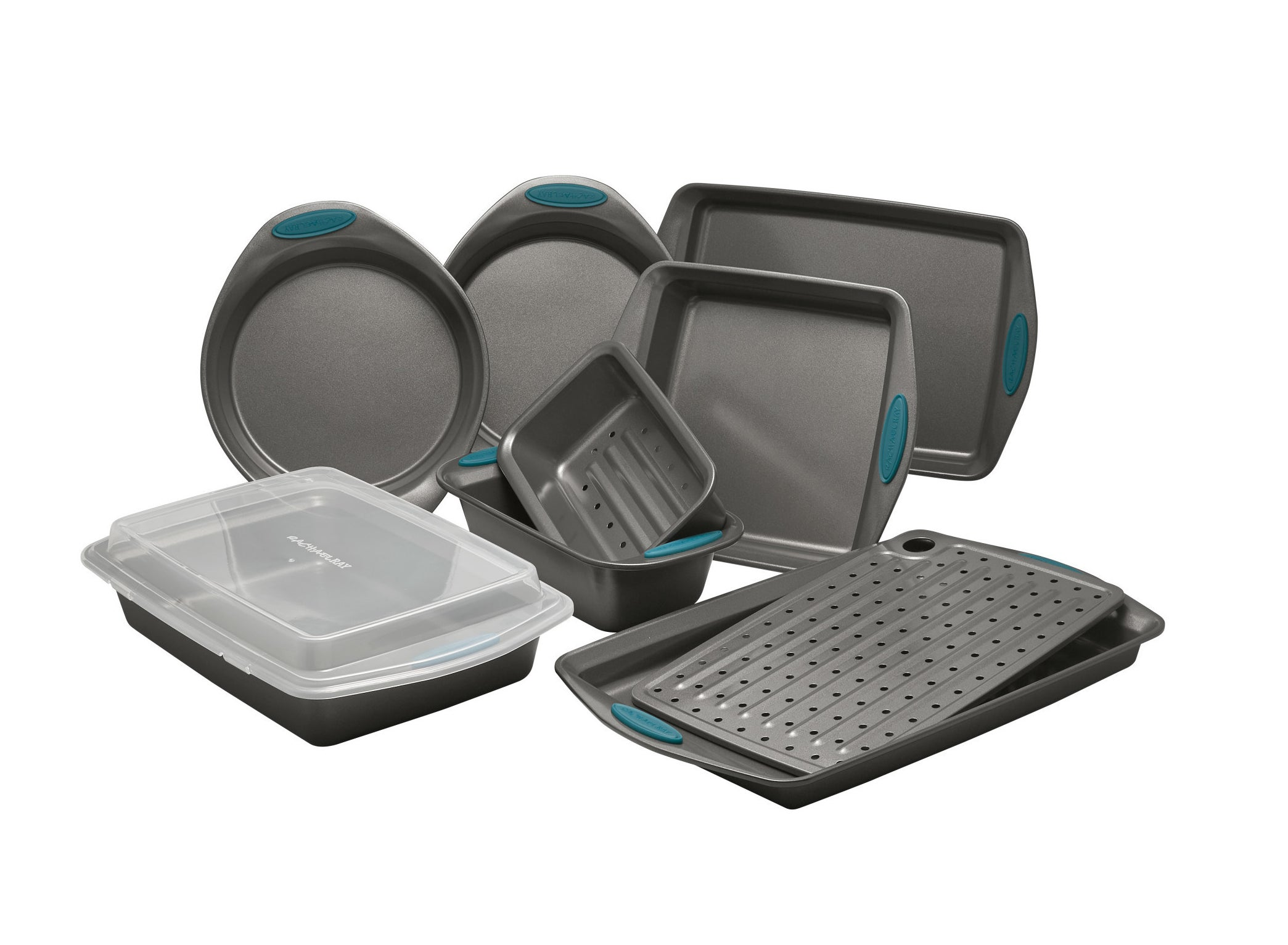 the complete 10 piece yum o! nonstick bakeware set