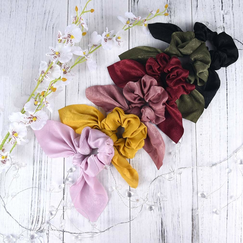 set of scrunchies lined out