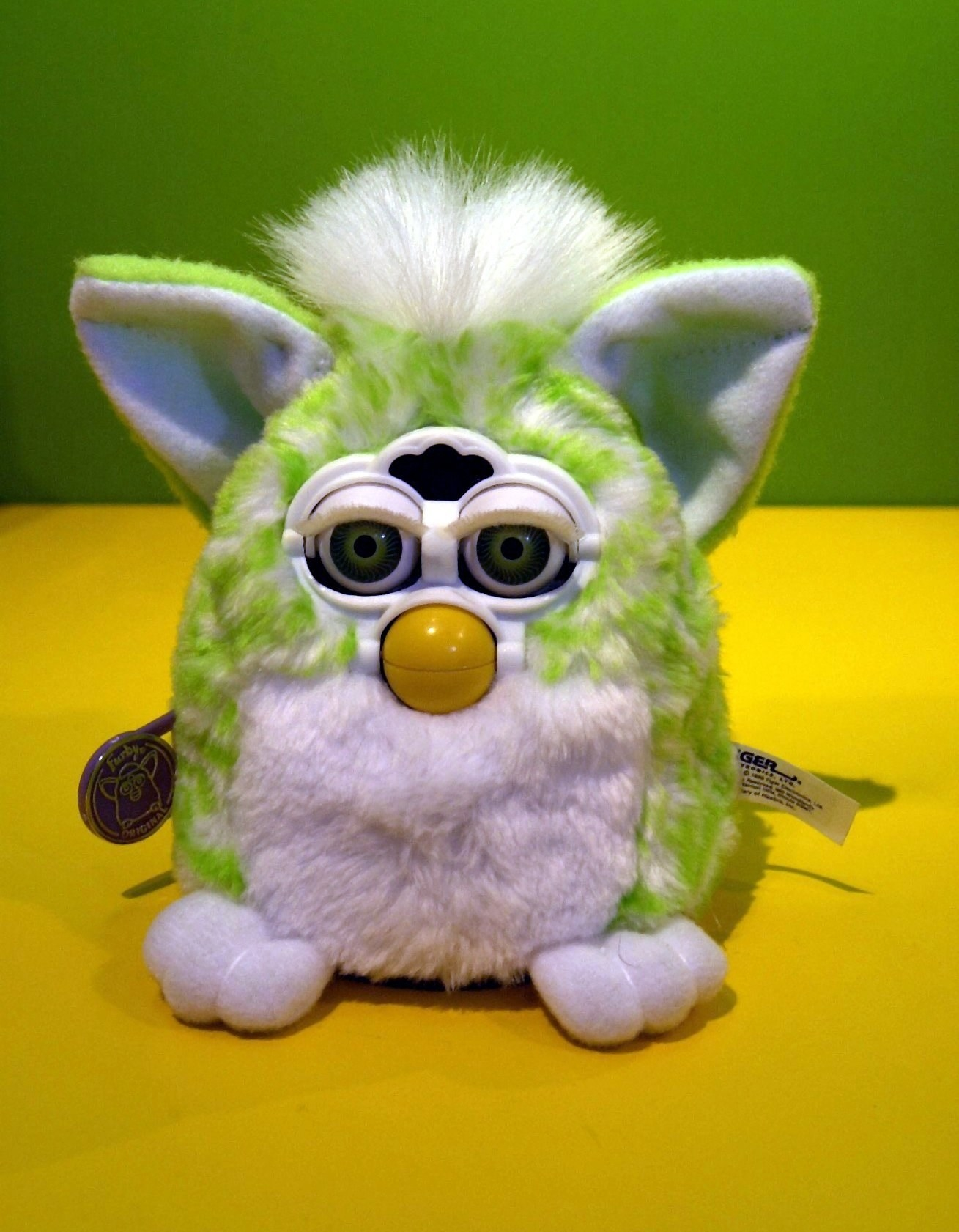 A single Furby sitting on a table