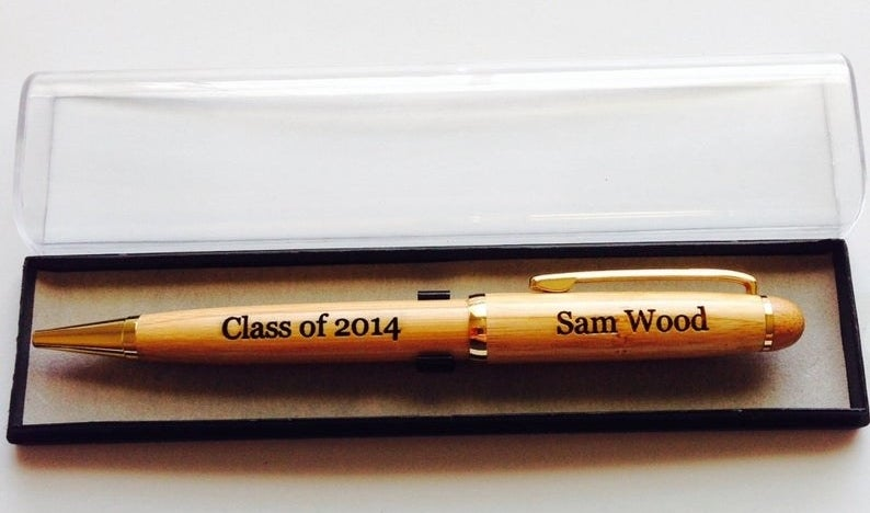 the pen engraved with class of 2014, sam wood