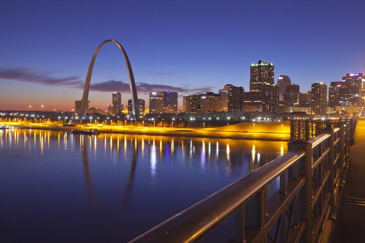 St. Louis arch in Missouri