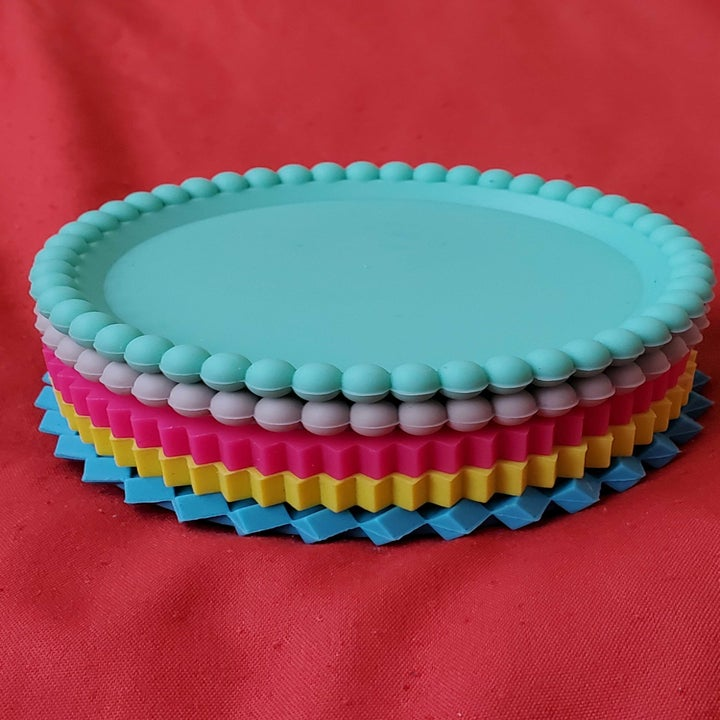 the pastel Geo Stacking Coasters