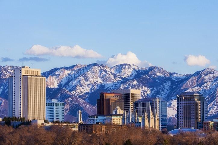 Utah city skyline