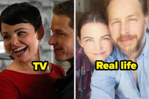 Snow White and Charming on Once Upon a Time and Ginnifer Goodwin and Josh Dallas in real life