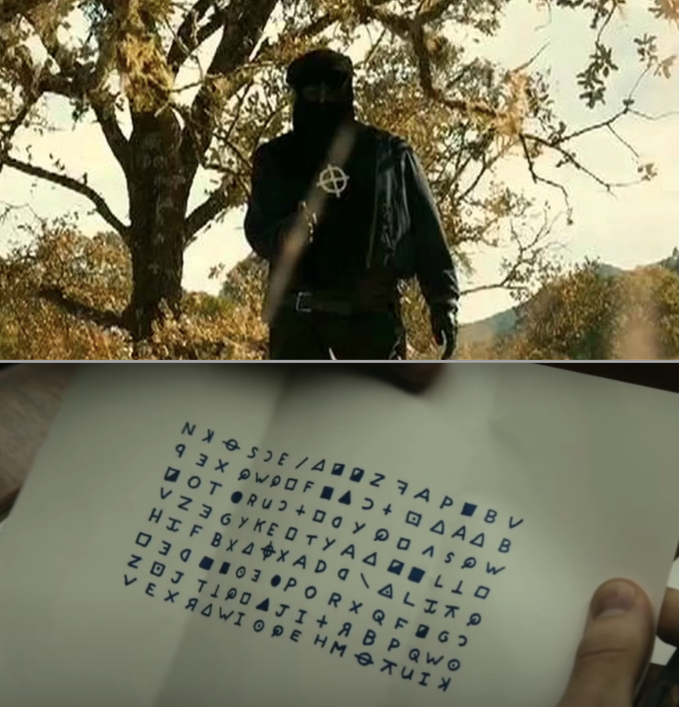 "The Zodiac Killer and a note during two scenes in David Fincher's ""Zodiac"""