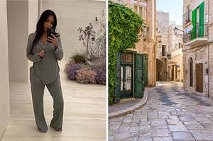 Kim Kardashian and Italy.