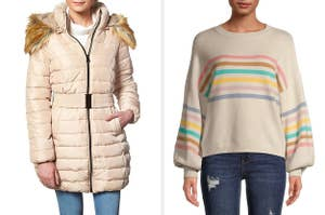 models in sweaters