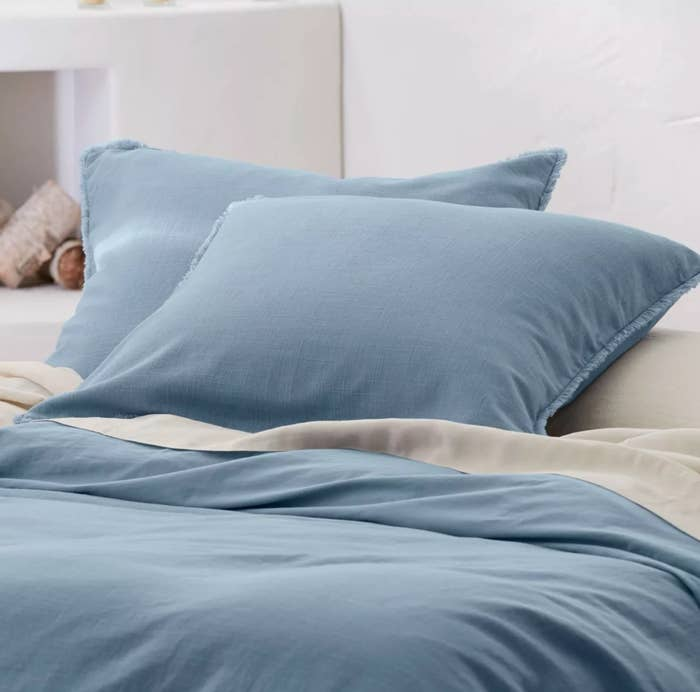 The pillow shams