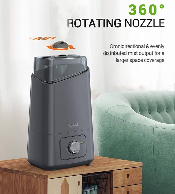 the rotating nozzle on the humidifier