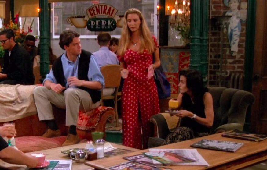 Phoebe wearing a flowy jumpsuit