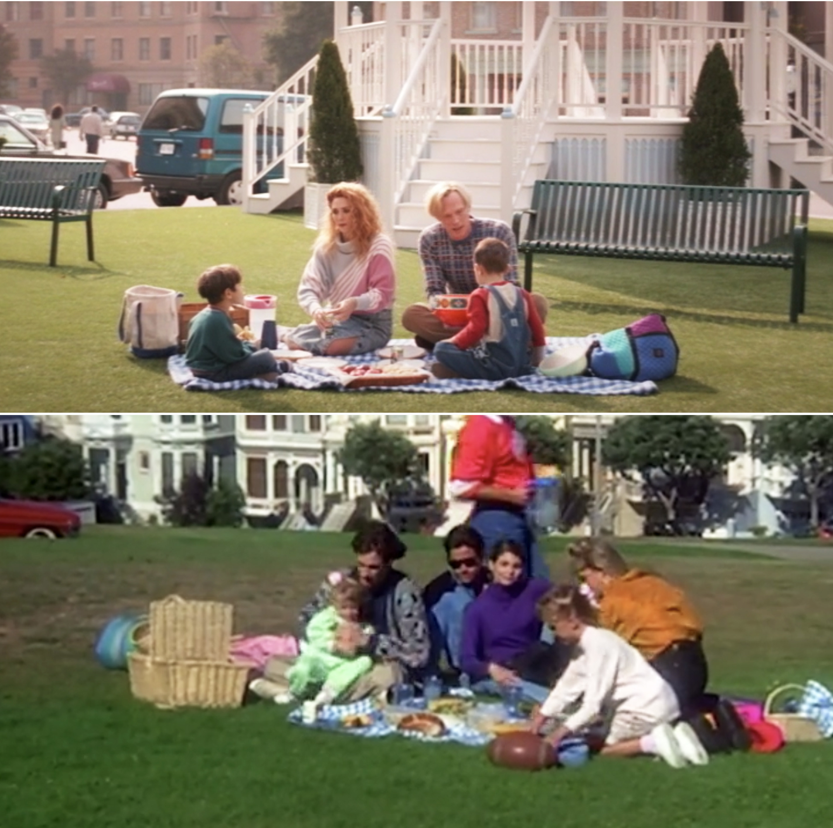 Wanda, Vision, Billy, and Tommy having a picnic vs. The Tanners having a picnic on Full House