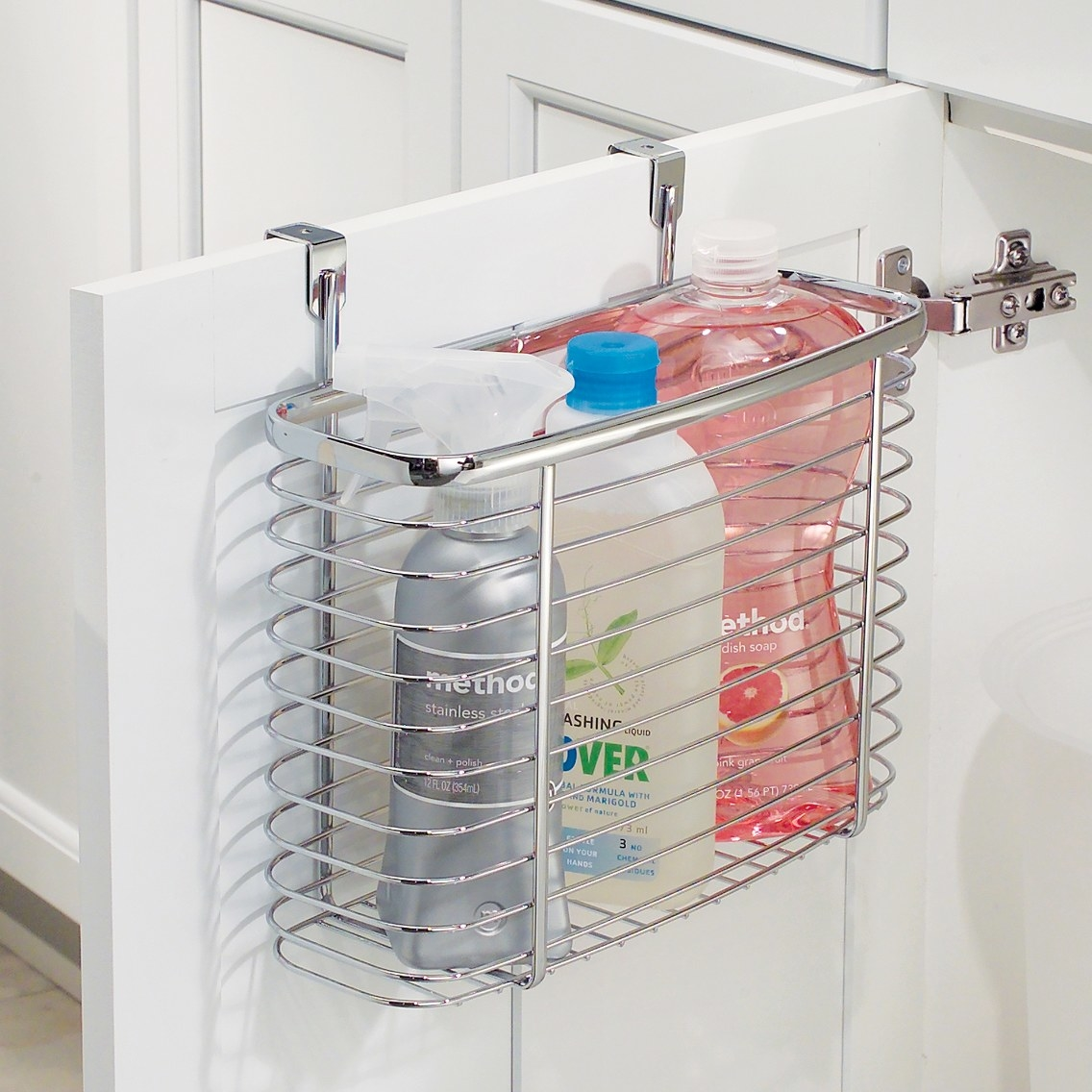 The over the door kitchen storage organizer in metal