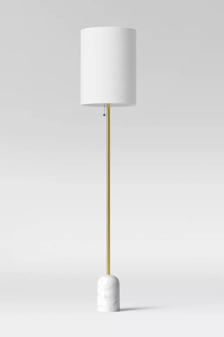 The marble base lamp
