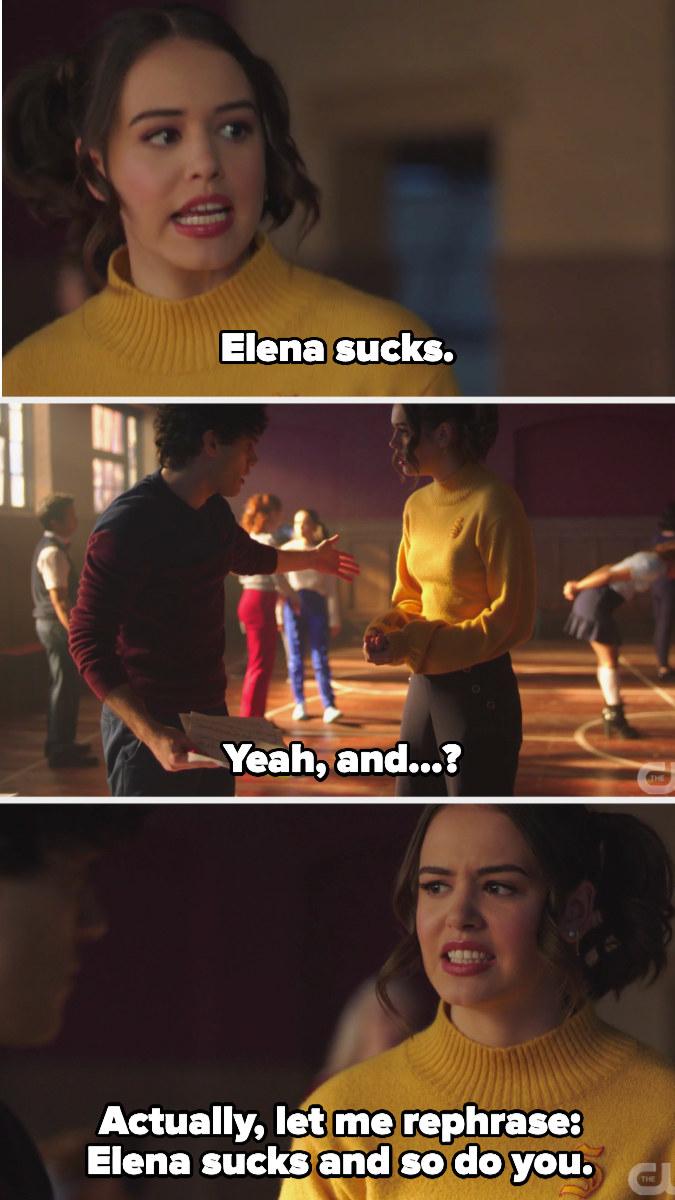 """Josie tells Landon Elena sucks and he's like """"and?"""" so she says he sucks too"""