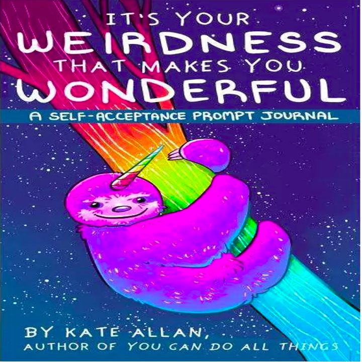 the cover of the book with a rainbow sloth on it