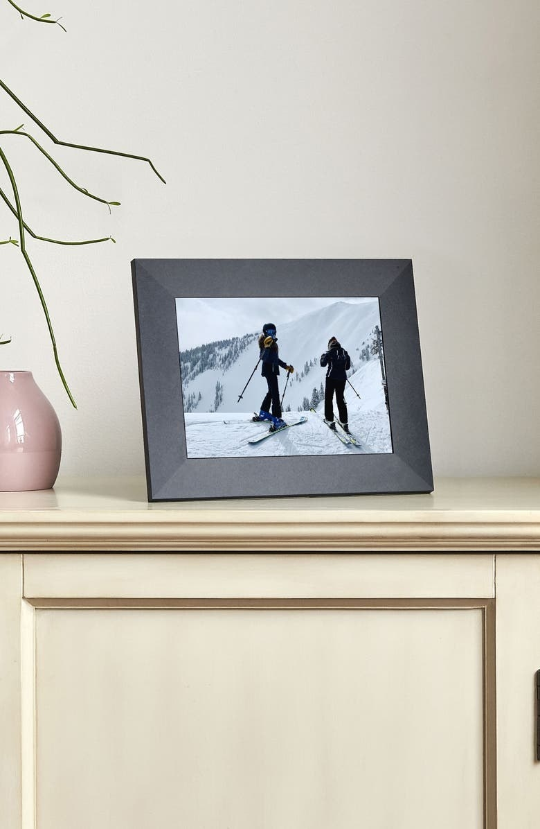 The frame in slate, shown on a credenza