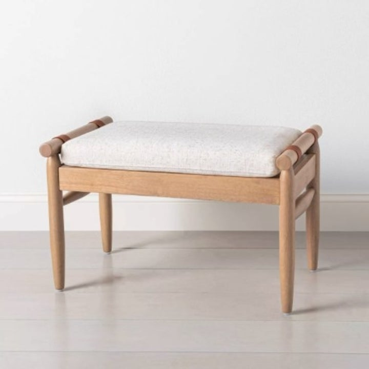 The ottoman in oatmeal