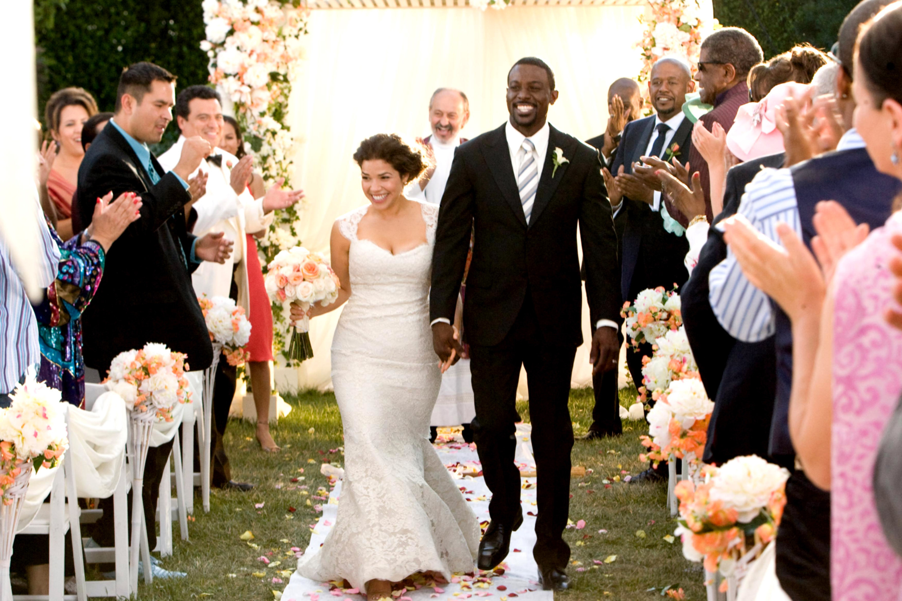 """America Ferrera and Lance Gross star in """"Our Family Wedding"""""""