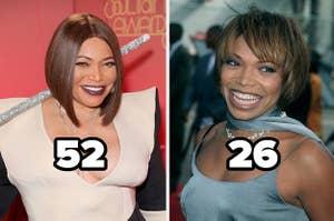 Tisha Campbell at 52 and 26