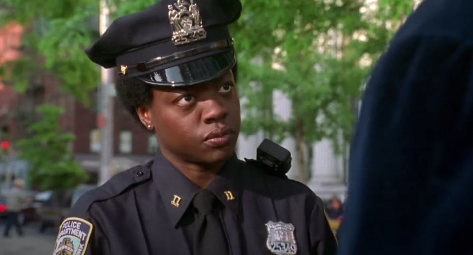 Viola Davis dressed up like a New York City cop