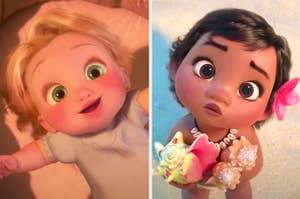 Baby Rapunzel and Baby Moana