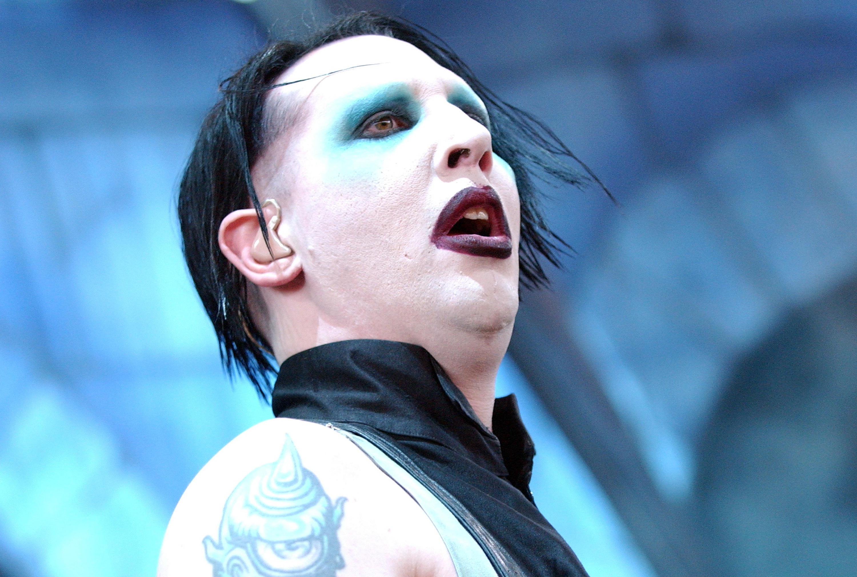 Marilyn Manson performing