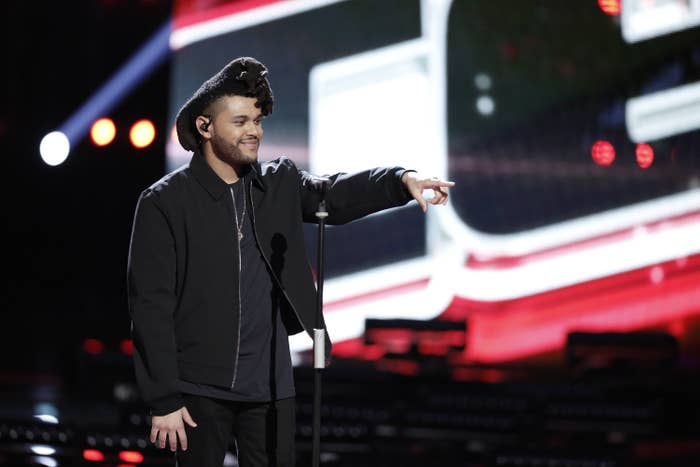 The Weeknd pointing