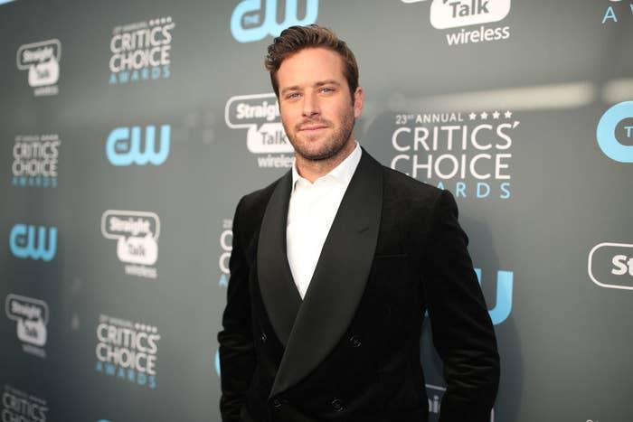 Armie at the Critics' Choice Awards
