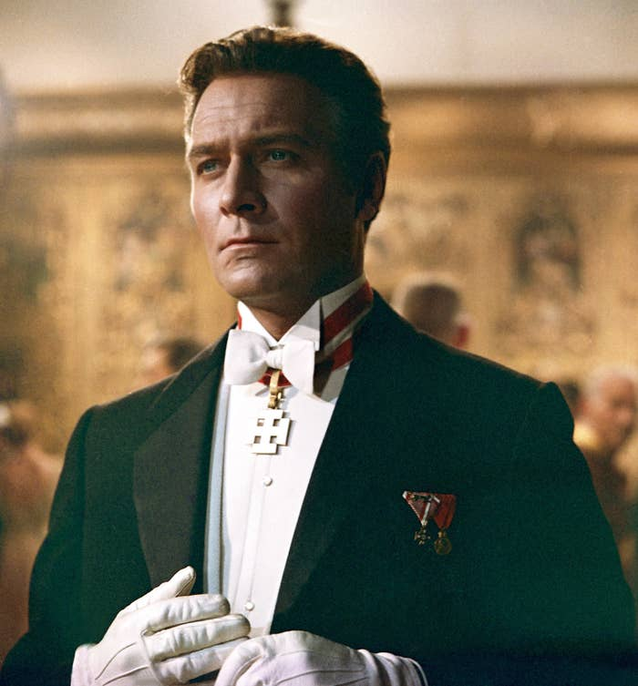 Christopher Plummer dressed to the nines with medals on his tux in The Sound of Music