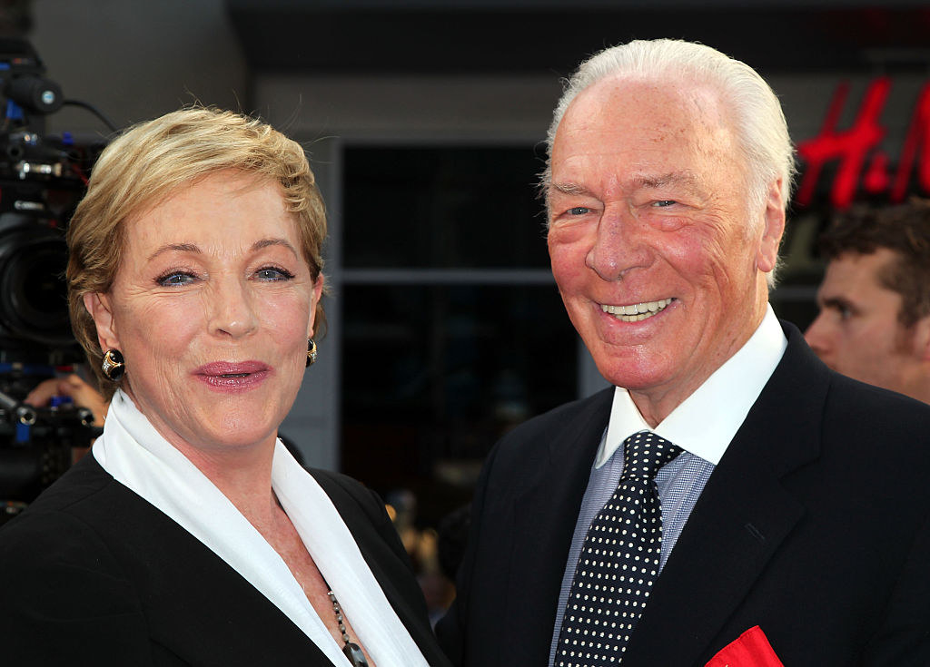 Julie and Christopher smiling together decades later